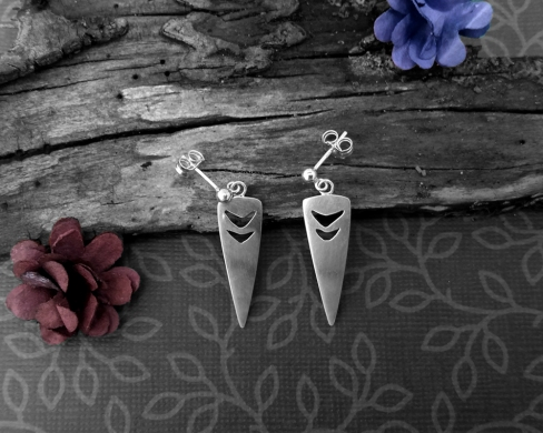 Princess Mononoke inspired earrings